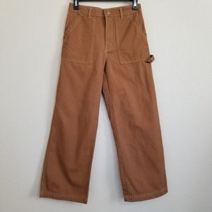 Wild Fable Brown High Rise Wide Leg Cargo Jeans 4